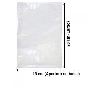 Bolsa Vacío Lisa de 15x20 cm