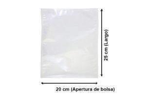 Bolsa Vacío Lisa de 20x25 cm