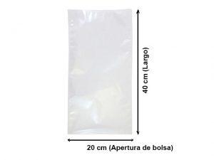 Bolsa Vacío Lisa de 20x40 cm