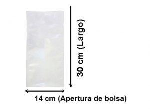 Bolsa lisa para vacío de14x30 cm