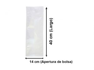 Bolsa lisa para vacío de14x40 cm