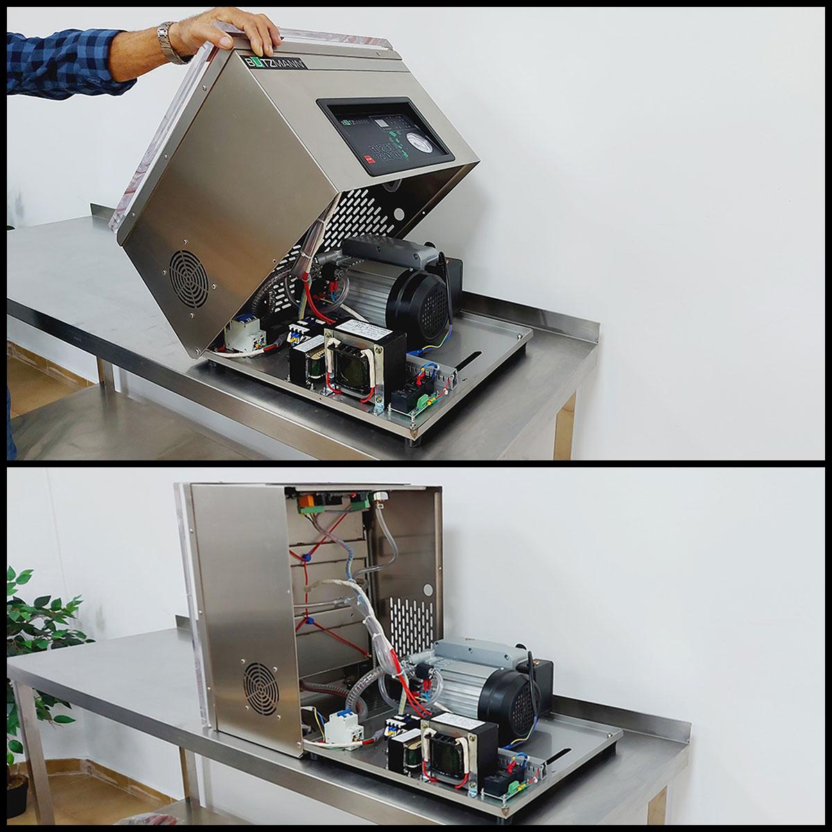 Fácil apertura de la máquina